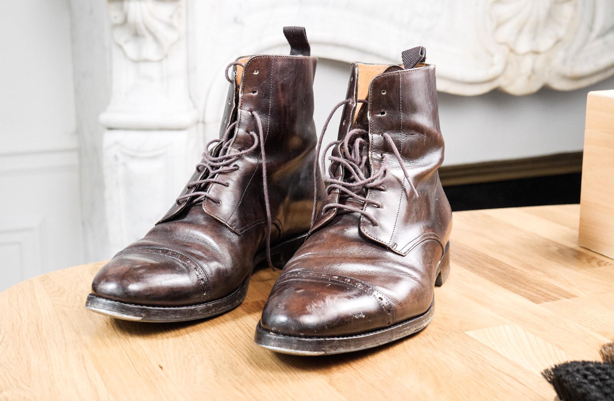 rénovation de talon sur bottes