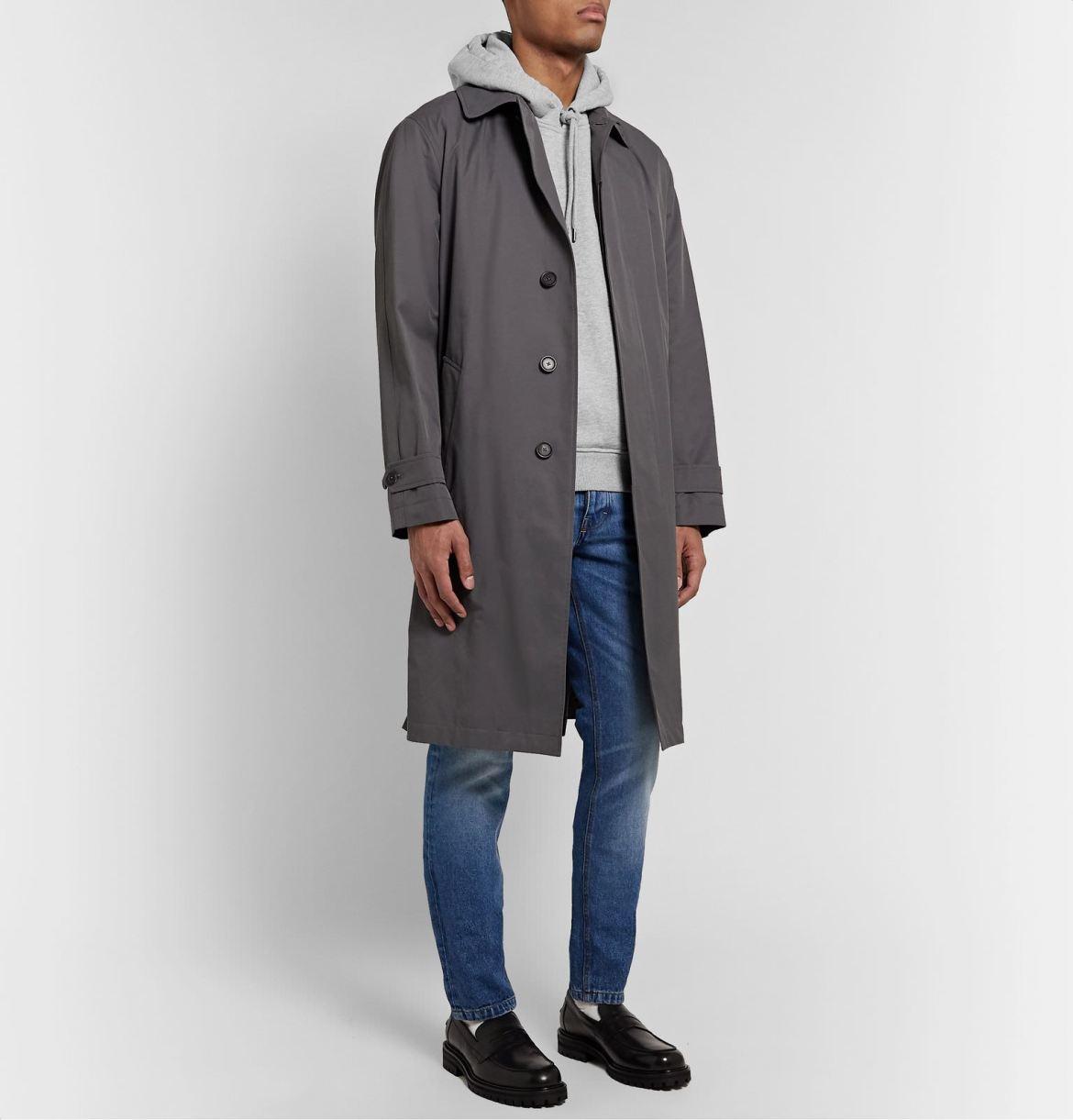 hoodie sur manteau homme