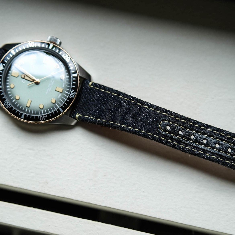 Bracelet montre Jean selvedge Momotaro