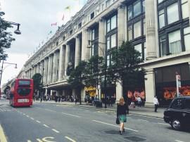 Shopping around Oxford High Street.