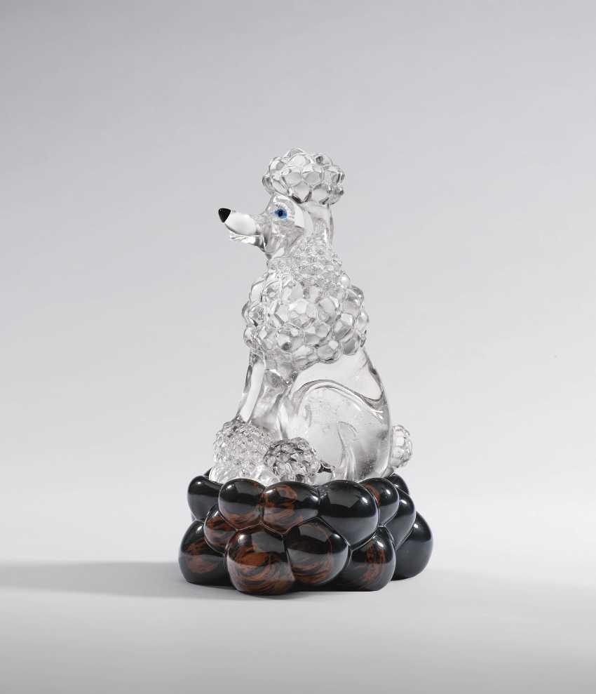 gemme objet caniche en cristal de