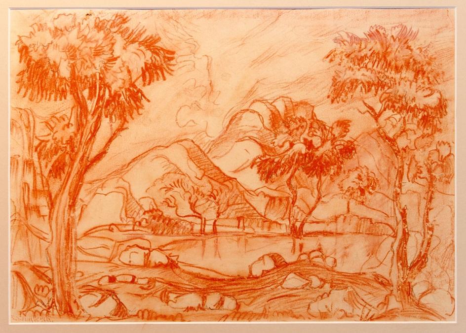 Сангина. Константин Богаевский. Рисунок «Киммерия», ХХ век