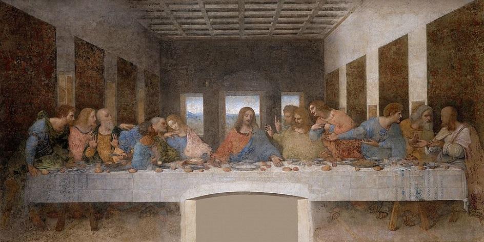 """Τοιχογραφία. Λεονάρντο Ντα Βίντσι. """"Τελευταίο δείπνο"""", 1497"""