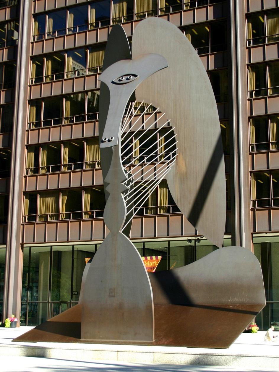 """Escultura. Pablo Piscasso. Escultura """"Chicago Picasso"""", 1967"""
