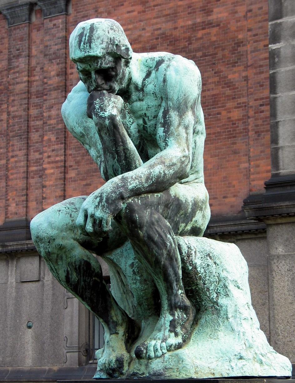 """Escultura. Auguste Roden. Escultura """"Pensador"""", 1882"""