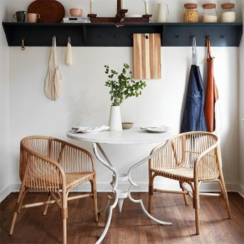 Dinnerware and dining room with ethical furniture and objects by The Citizenry