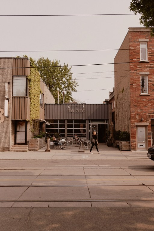 Te Aro coffee shop in East Toronto