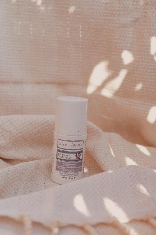 Roll-on lavender natural deodorant by Bleu Lavande.