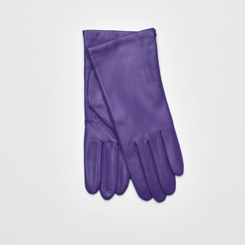 Leather and cashmere gloves by Maguire