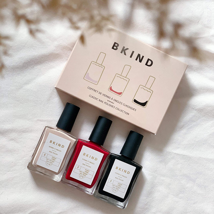 Clean and non-toxic nail polishes my Montreal brand BKIND