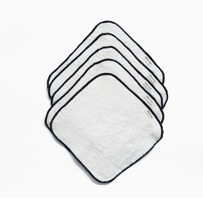 Washable face cloths by Idoine