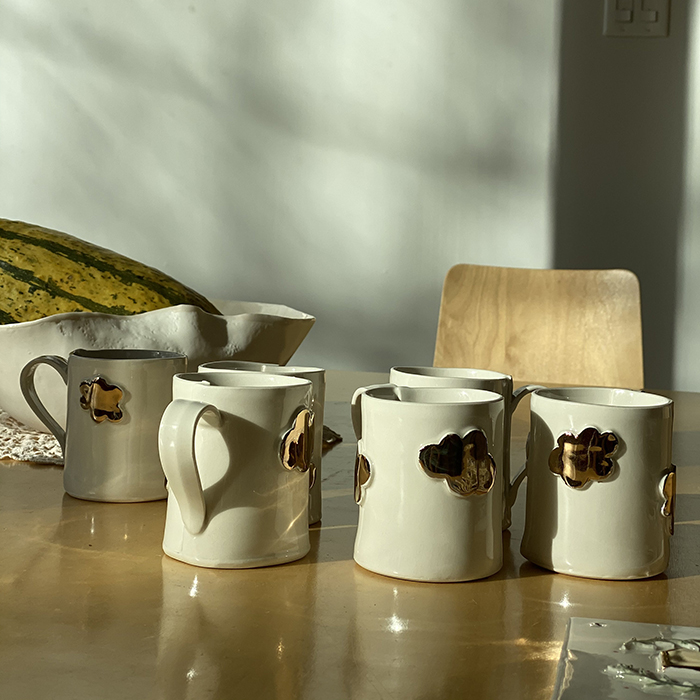Ceramic cups made by Goye in collaboration with Noémiah