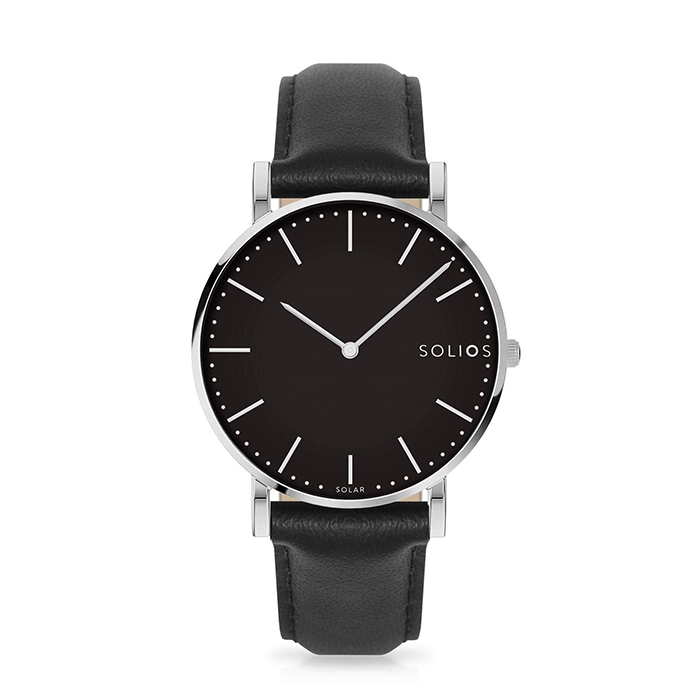 Eco-friendly solar-powered watch by Solios