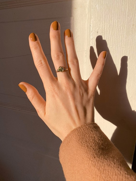 Custom ring for Joëlle Paquette made by Jade Boutilier, found of jewellery brand Captve.