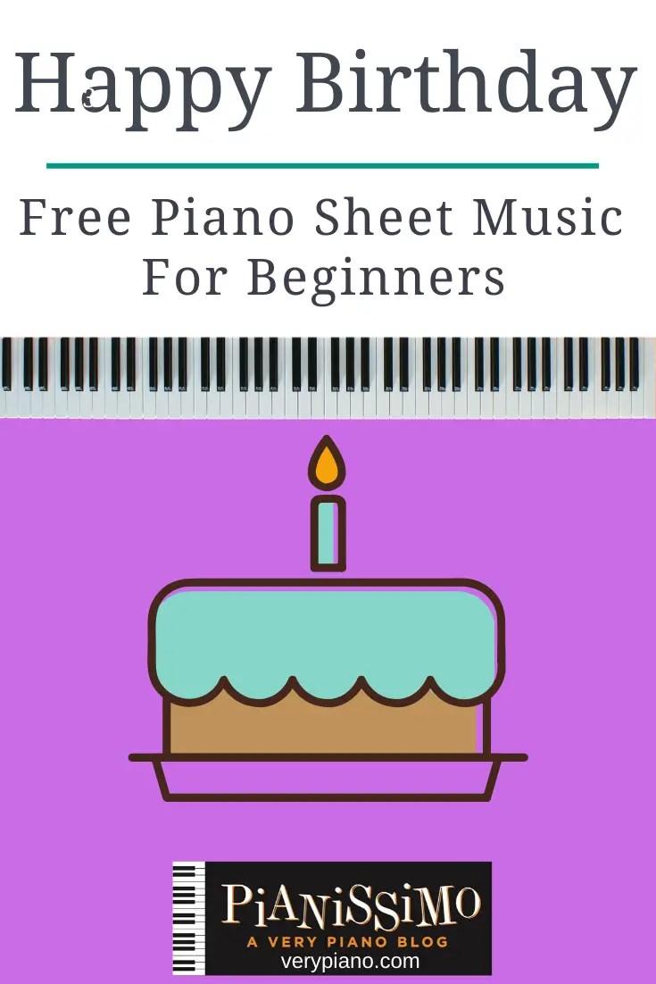 Free Easy Piano Sheet Music Happy Birthday Very Piano