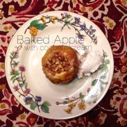 Baked Apple with Coconut Cream