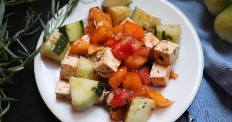Summer Tomato Vegan Caprese Salad