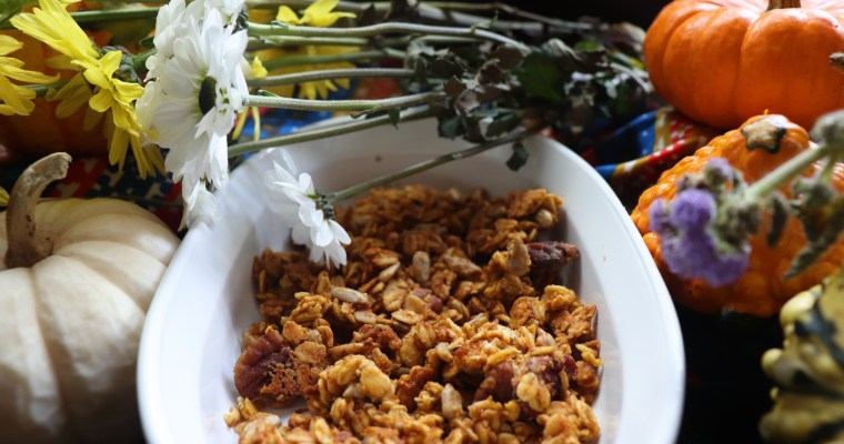 Vegan Pumpkin Pie Spice Granola