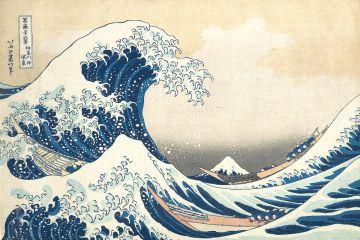 """""""Kanagawa Oki Nami Ura"""", Katsushika Hokusai."""