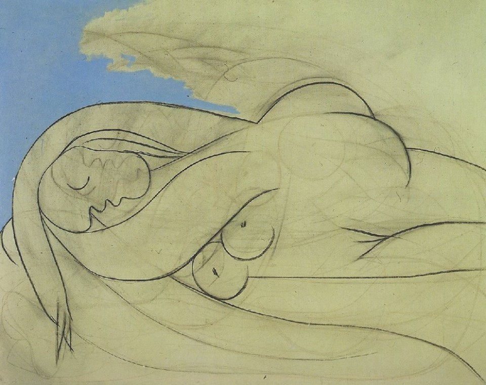 """""""Femme nue couchée"""" (Pablo Picasso, 1932)"""