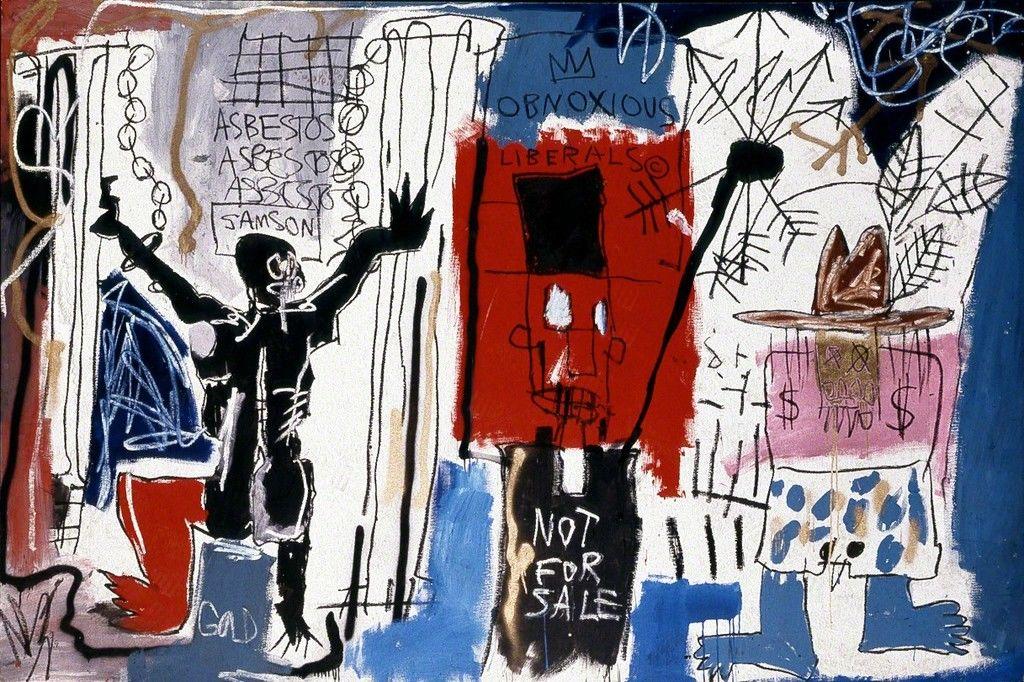 Obnoxious Liberals (1982), Jean-Michel Basquiat.