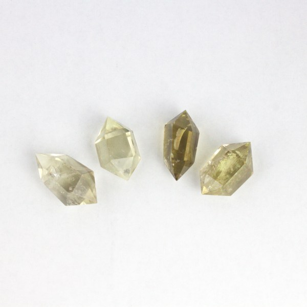 cdt Citrine, Smoky, Lemon-Lime, Small Double Terminated Points Vesica Institute for Holistic Studies