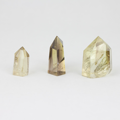 citrine 1 Citrine, Smoky, Lemon-Lime, Small Polished Standing points Vesica Institute for Holistic Studies