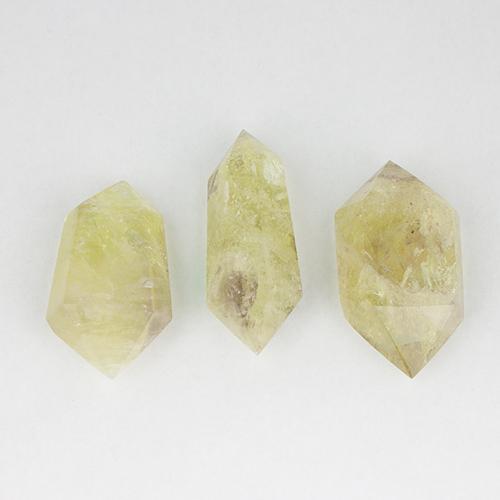 citrine double terminated 6 Citrine, Lemon-Lime, Medium Double Terminated Points Vesica Institute for Holistic Studies