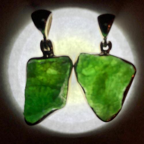 emerald pendant rough illuminated Emerald, Rough, Pendant, Translucent Quality, Ethiopia Vesica Institute for Holistic Studies