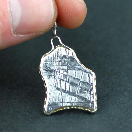 meteorite muonionalusta bright organic shape pendants 1 Meteorite, Muonionalusta, Bright Organic Shape, Pendants Vesica Institute for Holistic Studies