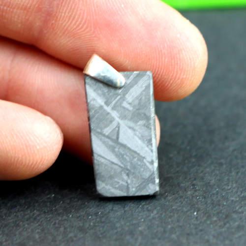 meteorite muonionalusta silver rectangular pendants 3 Meteorite, Muonionalusta, Silver Rectangular, Pendants Vesica Institute for Holistic Studies
