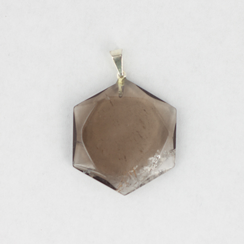 smokey quartz hexagonal pendant 4 Quartz, Smoky, Star of David Pendants Vesica Institute for Holistic Studies