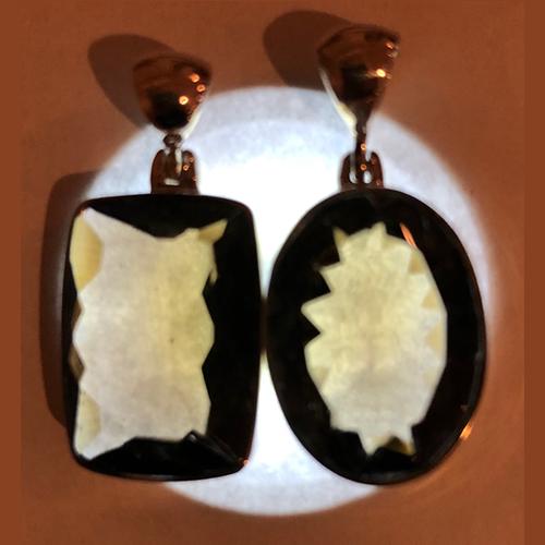 smoky quartz pendant illuminated Quartz, Smoky, Pendant, Faceted Edge, Assorted Shape Vesica Institute for Holistic Studies