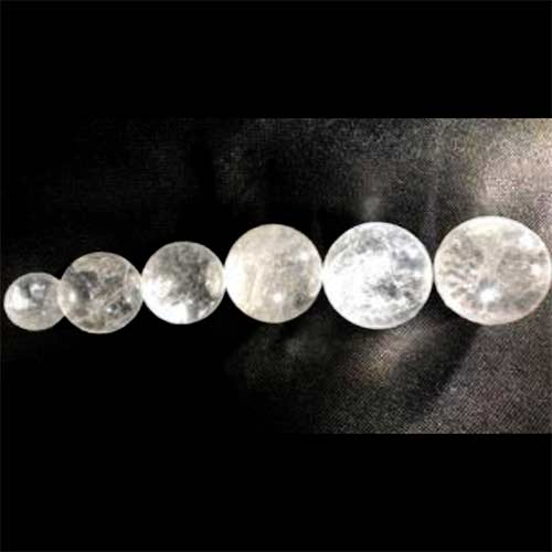 QUARTZ CLEAR sphere p t 500px 2 Quartz, Clear Spheres, Partially Transparent with Inclusions Vesica Institute for Holistic Studies