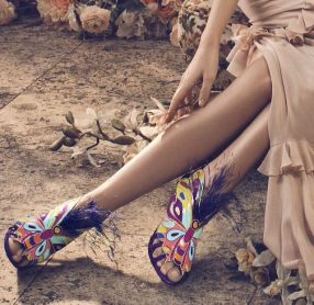 Brian Atwood Butterfly Sandals