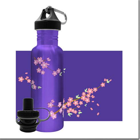 «Цветение Сакуры». Бутылочка для воды из нержавеющей стали. 750 мл