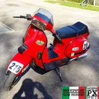 MotoVespa TX200 from Spain, read more about the Vespa TX  @britishscooterstyle ・・・ TX215