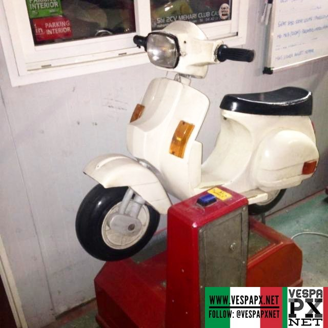 Start young with this Vespa PX kiddy ride   Vespa PX