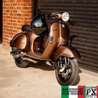 Brown bronze Vespa PX custom modified @molkhan
