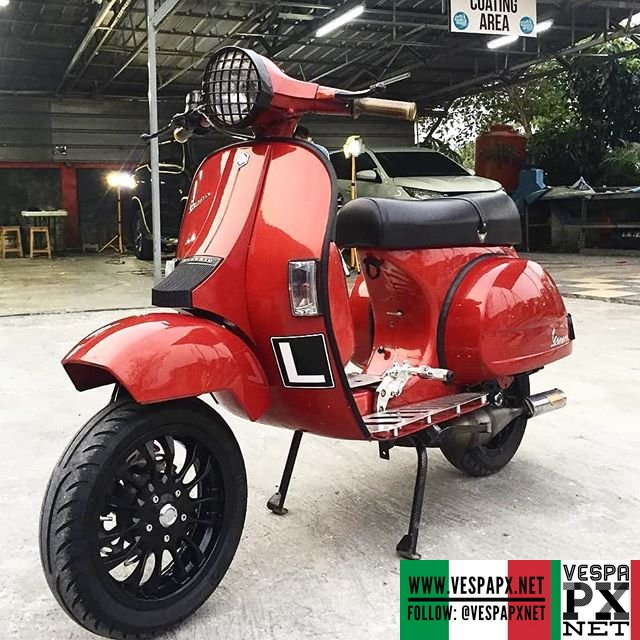 red vespa px tuning custom modified with vespa sprint 12. Black Bedroom Furniture Sets. Home Design Ideas