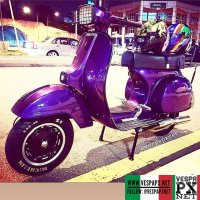 Purple Vespa PS custom modified . hashtag and mention @vespapxnet for feature repost Check website www.vespapx.net for more @laci_baju