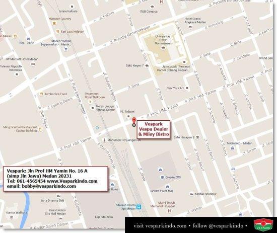Vespa Medan Map