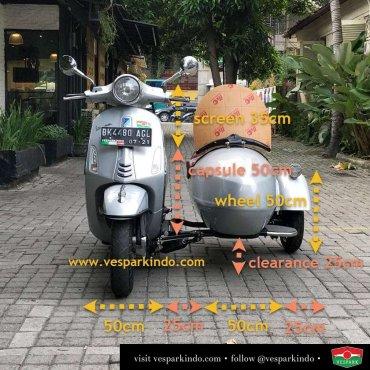 vespa sidecar sizes