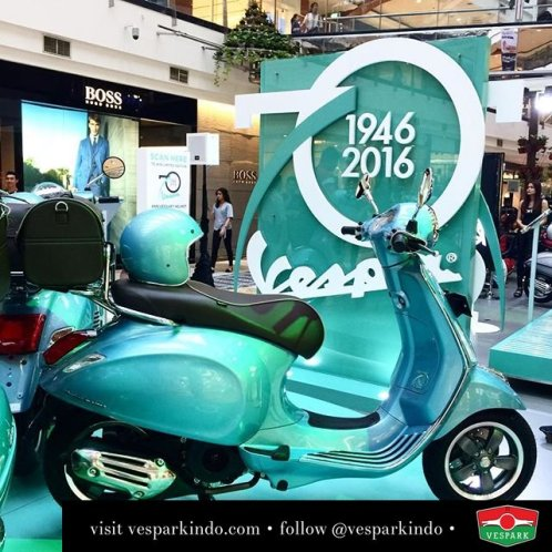 The Vespa Settantesimo 70th anniversary limited editions. Very limited units available at Vespark Medan. Call 061-4565454