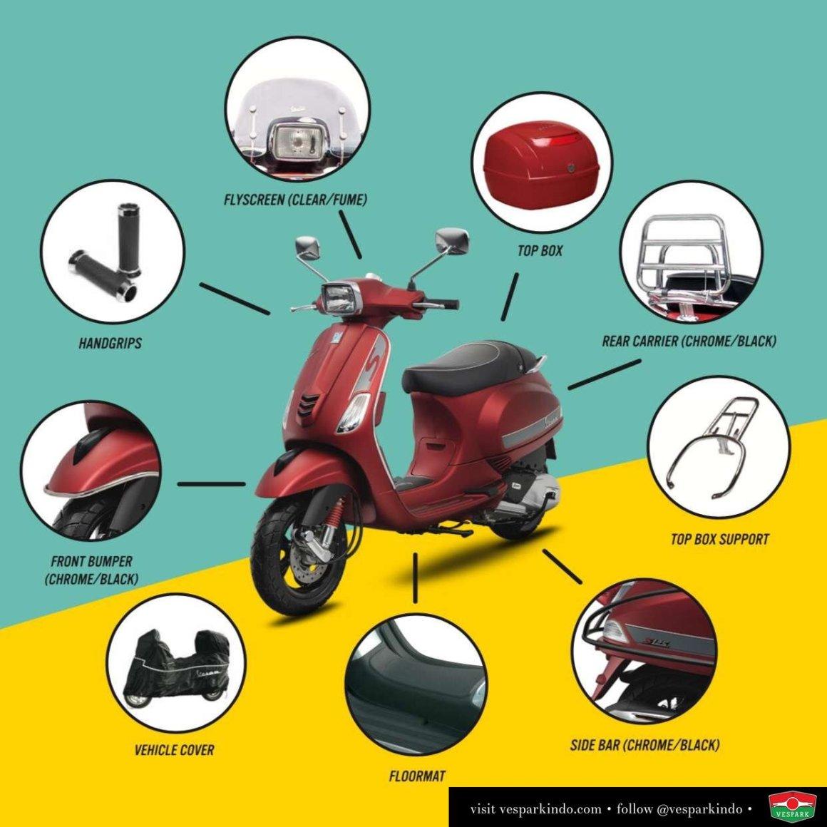 Vespa S accessories