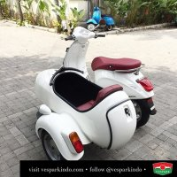 Vespa Primavera Sidecar, we supply sidecar for all Vespa, classic and modern. For export too! Contact wa 0815-21-595959  see more