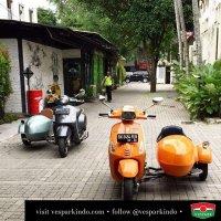 Vespa Sidecar Sespan Indonesia