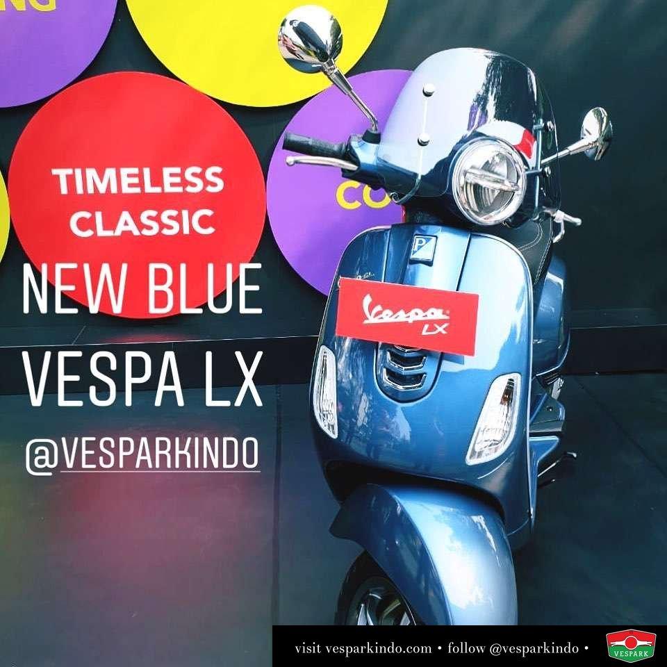New Blue Vespa LX iGet with LED order yours now at Vespark