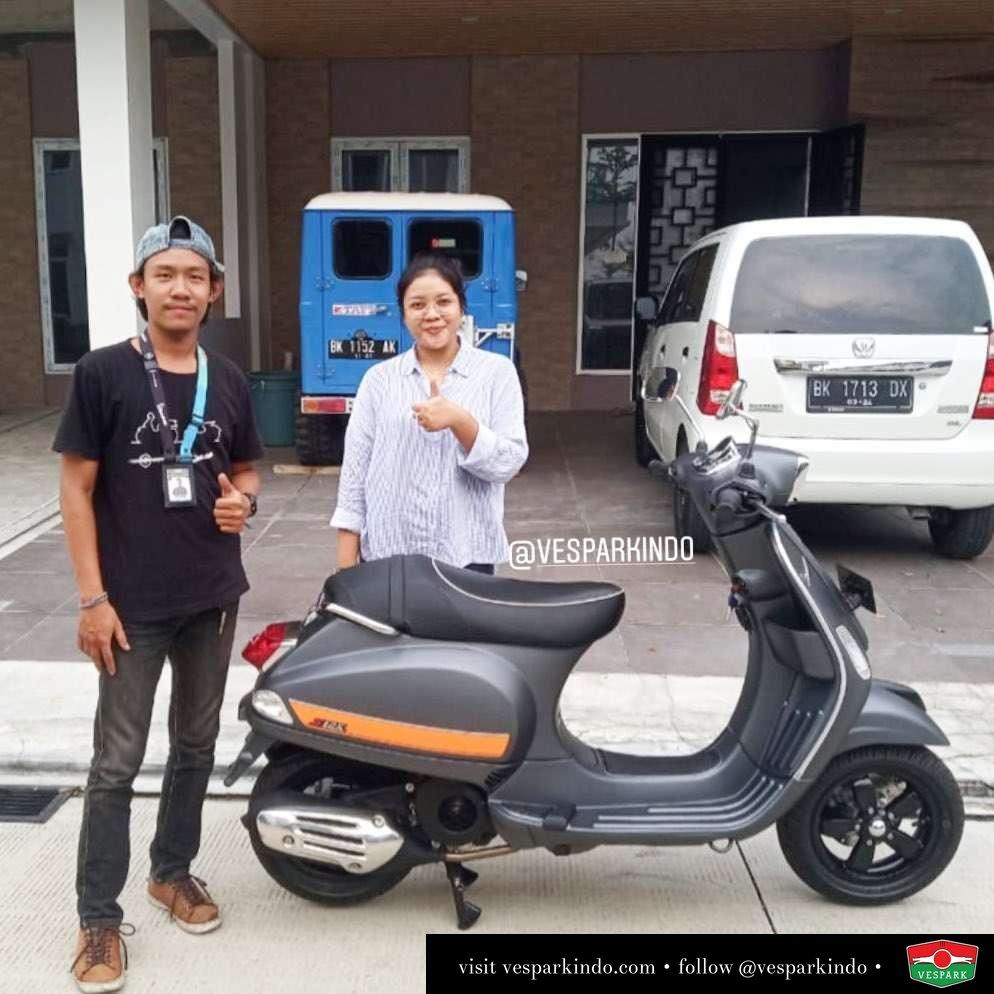 Vespa S 125cc i-get, Grey Matt, welcome to Vespark family Reza Ayu Delvi