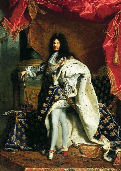 A big wig with Louis XIV underneath